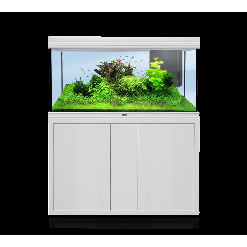 Aquatlantis FUSION LED 2.0 Aquarium Kombination, Fusion 120x50 weiß