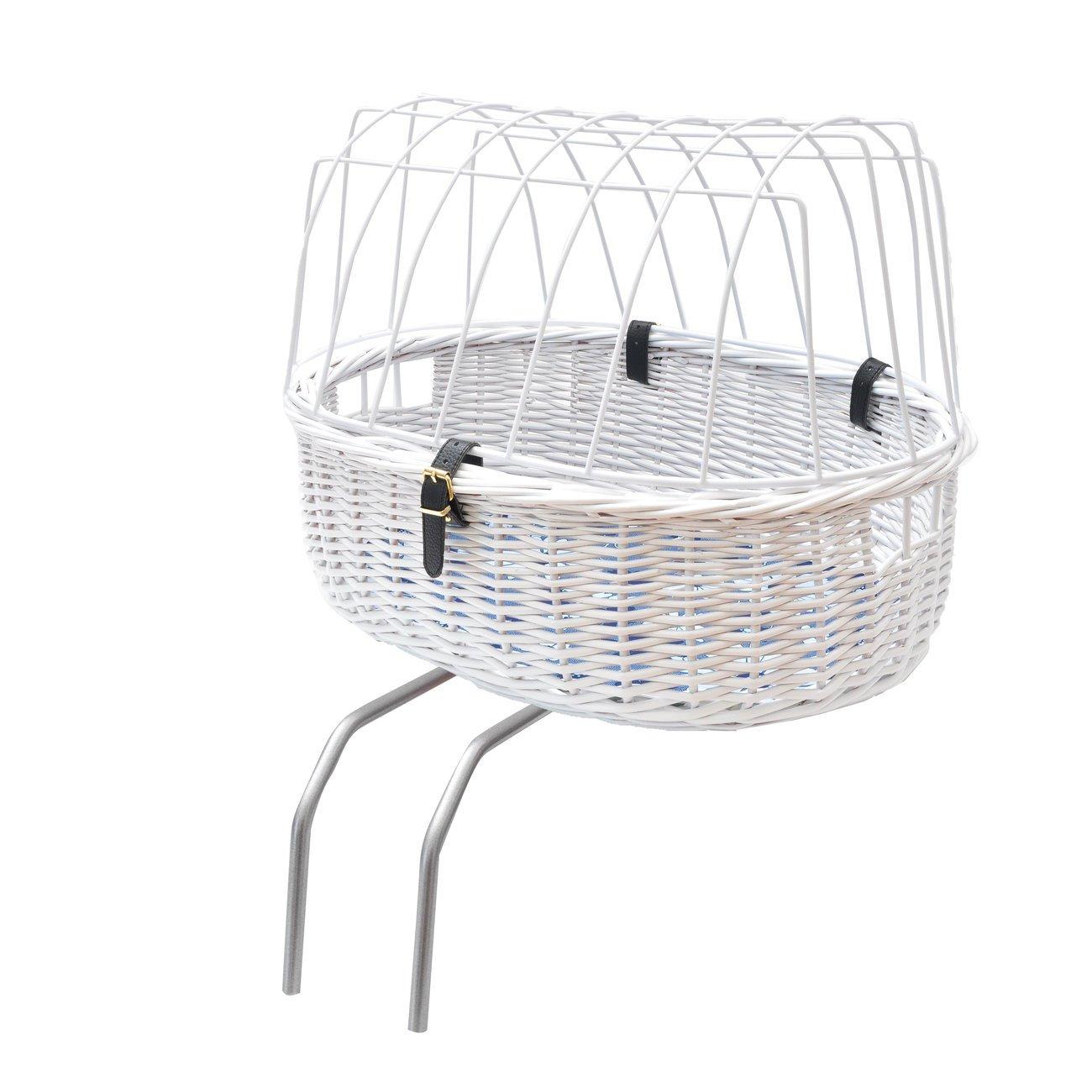 Aumüller Fahrradkorb für Hunde Rahmenmontage hinten, Standard: 52 x 38 x 18/40 cm, weiß