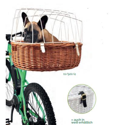 Aumüller Hunde Fahrradkorb für Gepäckträger, XL: 68 x 46 x 18/40 cm, gesotten