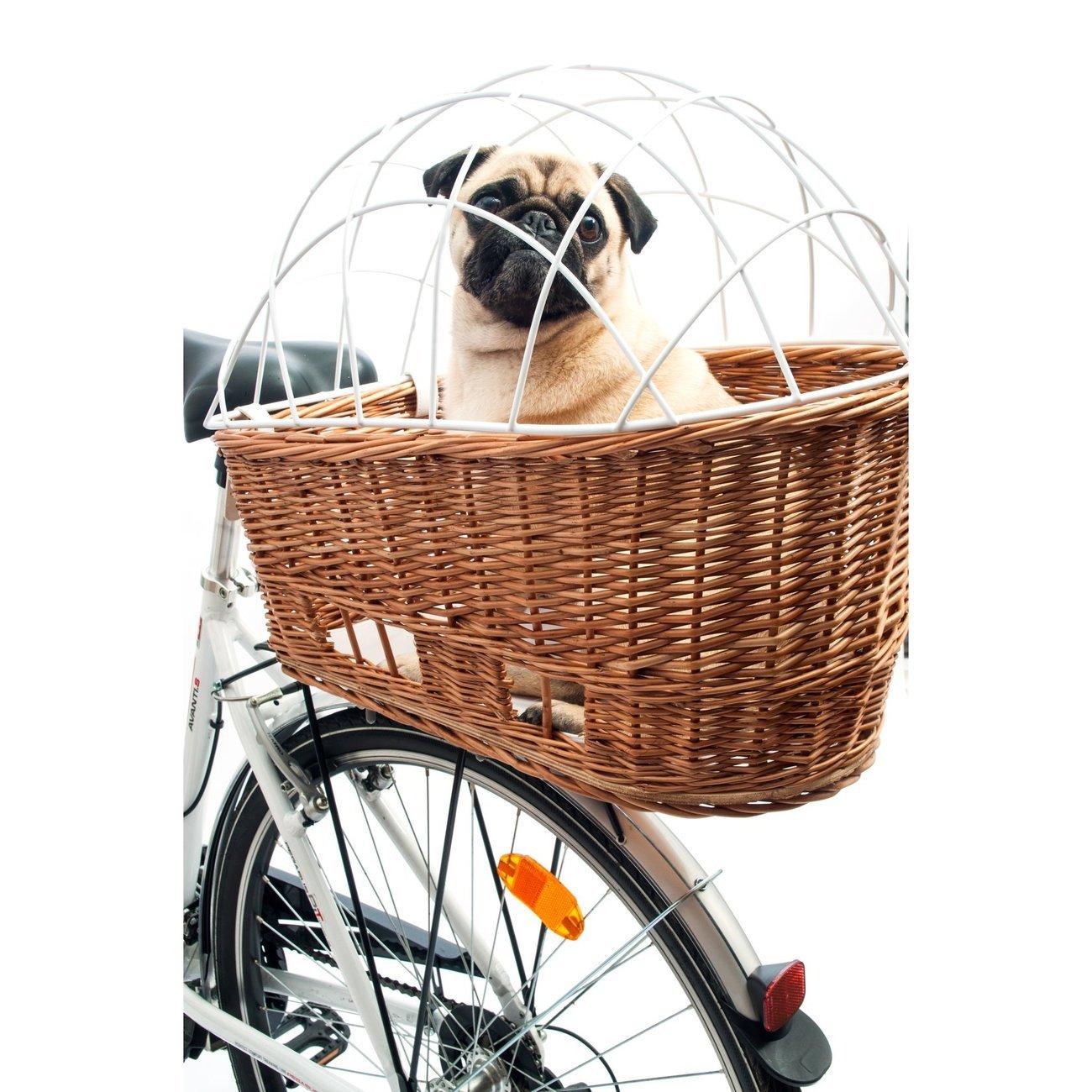 Aumüller Weiden Fahrradkorb für Hunde für Gepäckträger, 55 x 35 x 48 cm - Natur