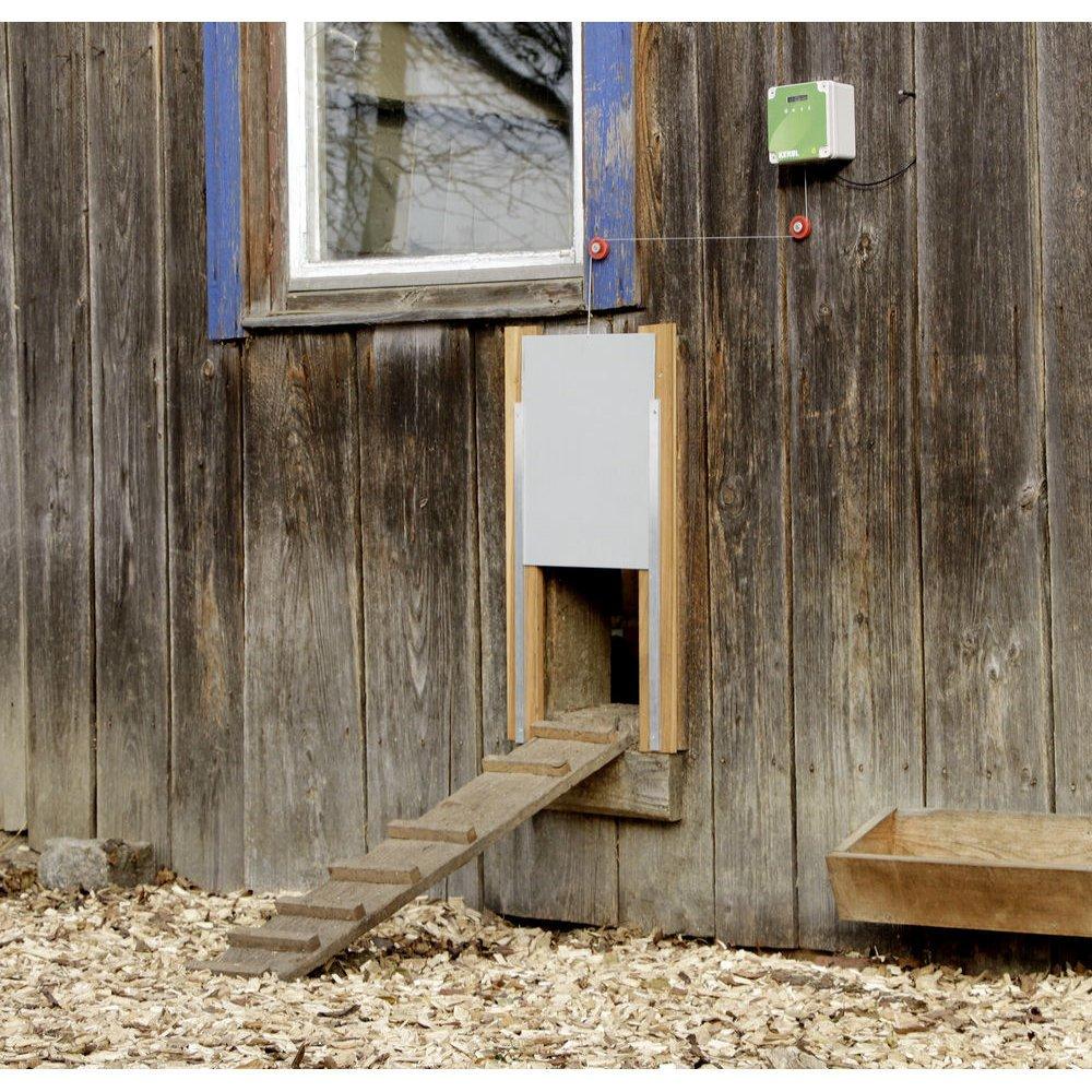 Kerbl Automatische Hühnertür Komplett-Set inkl. Schiebetür, Bild 11
