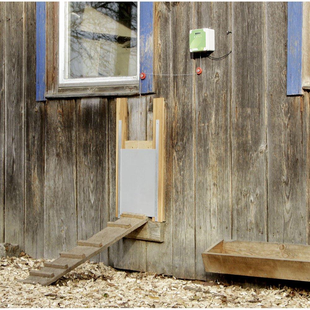 Kerbl Automatische Hühnertür Komplett-Set inkl. Schiebetür, Bild 12