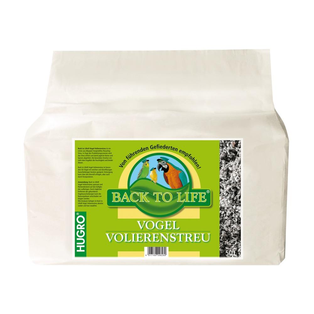 Hugro Back to Life Vogel Volierenstreu, 50 Liter