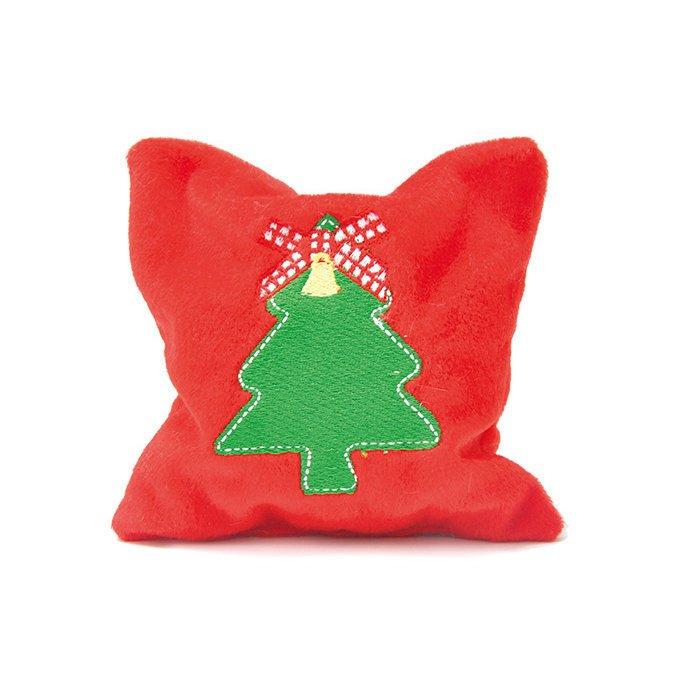 Aumüller Baldrian-Katzenspielkissen mit Weihnachtsmotiven, Kissen Jingle Bells