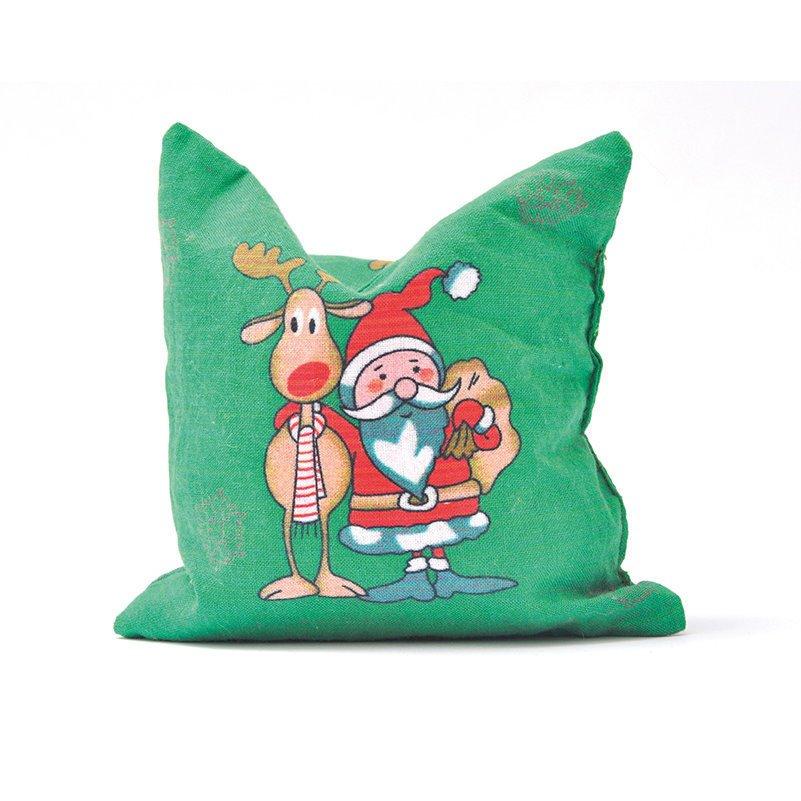 Aumüller Baldrian-Katzenspielkissen mit Weihnachtsmotiven, Kissen HoHoHo