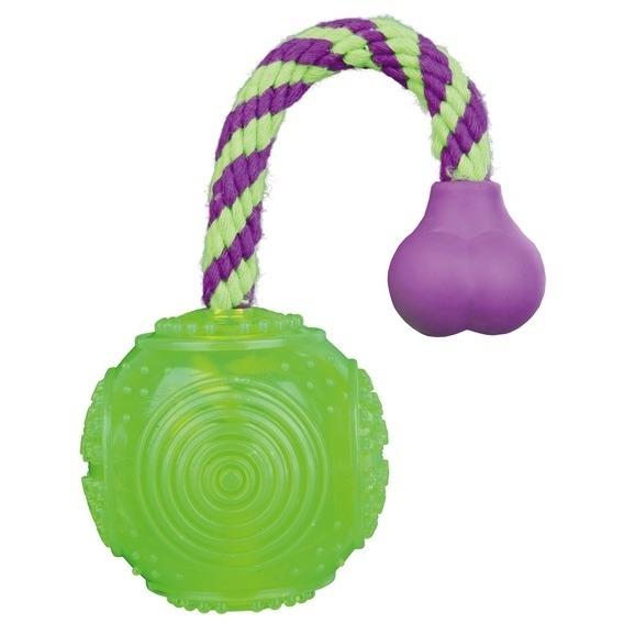 Trixie Ball am Seil, Moosgummi, Moosgummi, ø 6 cm / 1,00 m