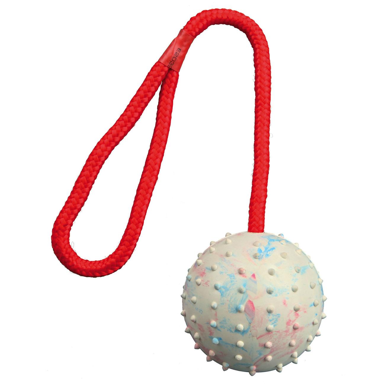 Trixie Spielball für Hunde am Seil mit Noppen, ø 7 cm / 30 cm