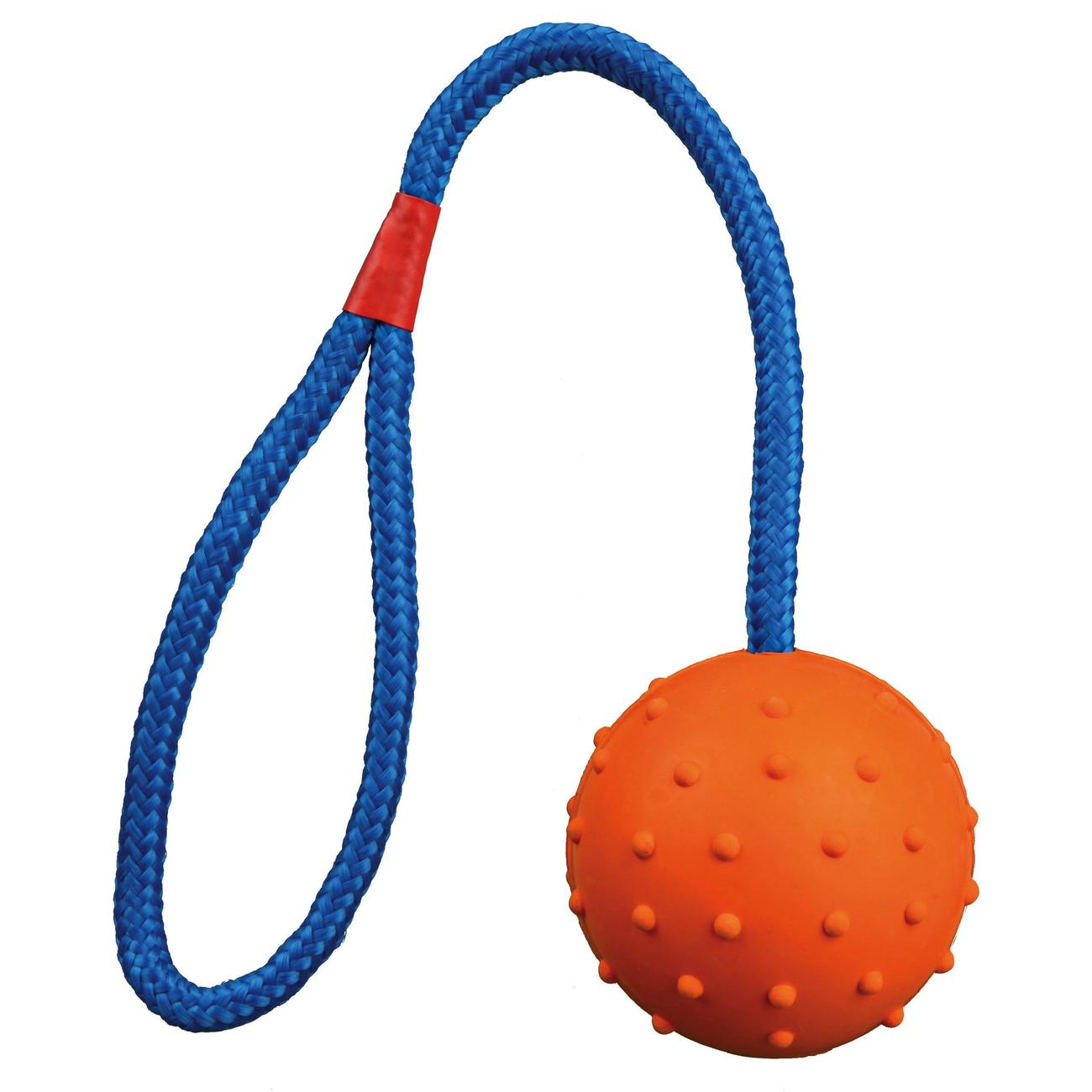 Trixie Spielball für Hunde am Seil mit Noppen, ø 6 cm/30 cm