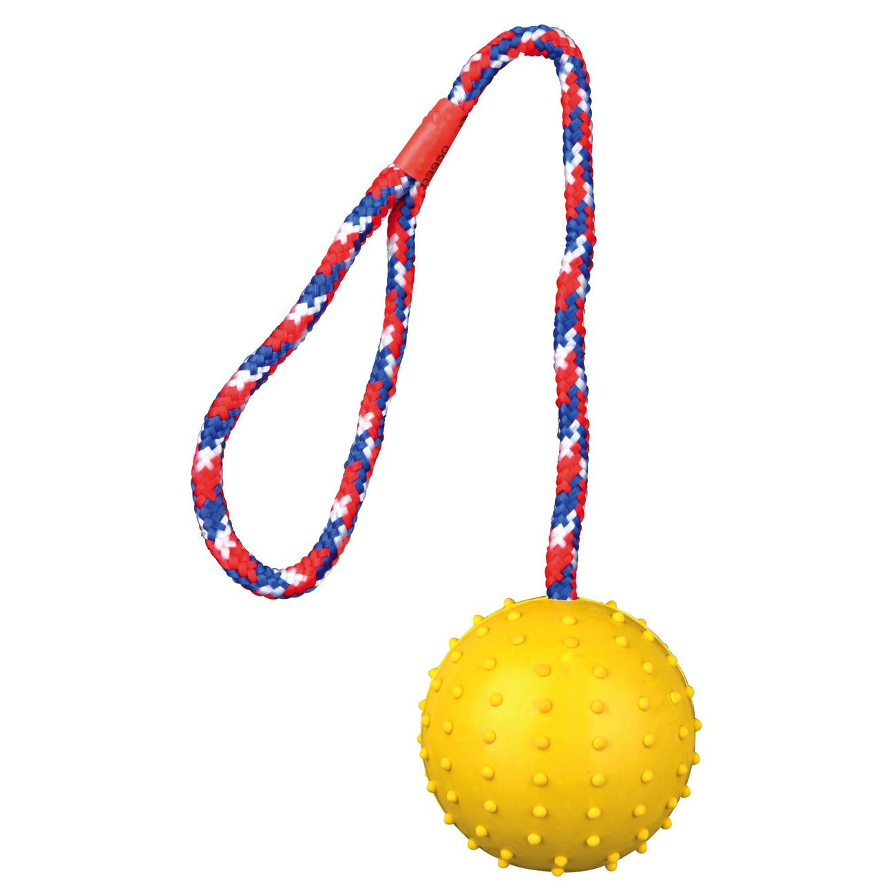 Trixie Spielball für Hunde am Seil mit Noppen 3305, Bild 3