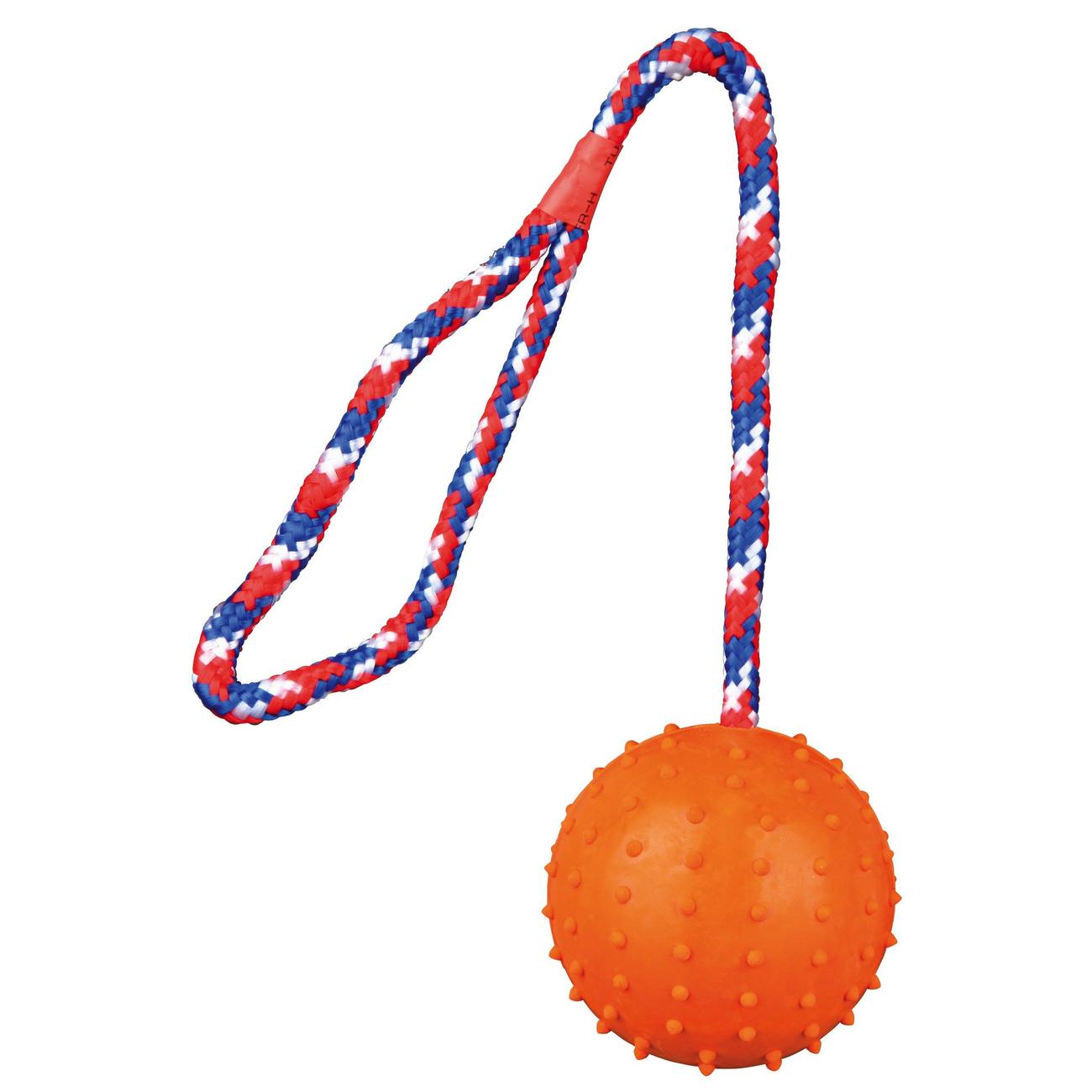 Trixie Spielball für Hunde am Seil mit Noppen 3305, Bild 4
