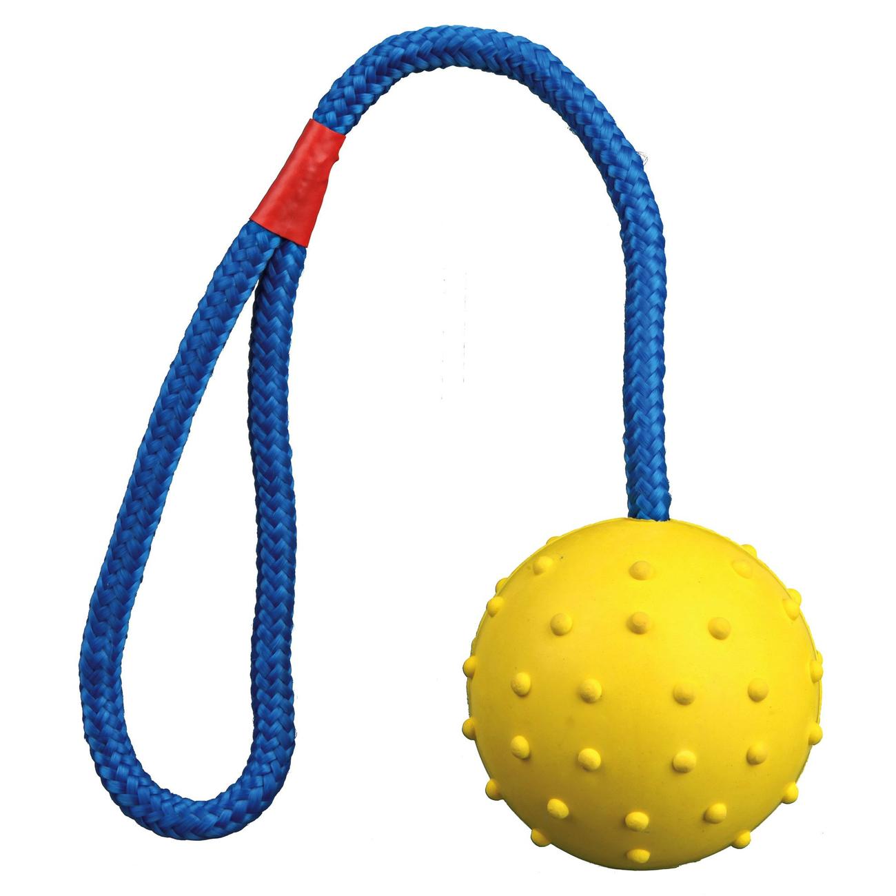 Trixie Spielball für Hunde am Seil mit Noppen 3305, Bild 5