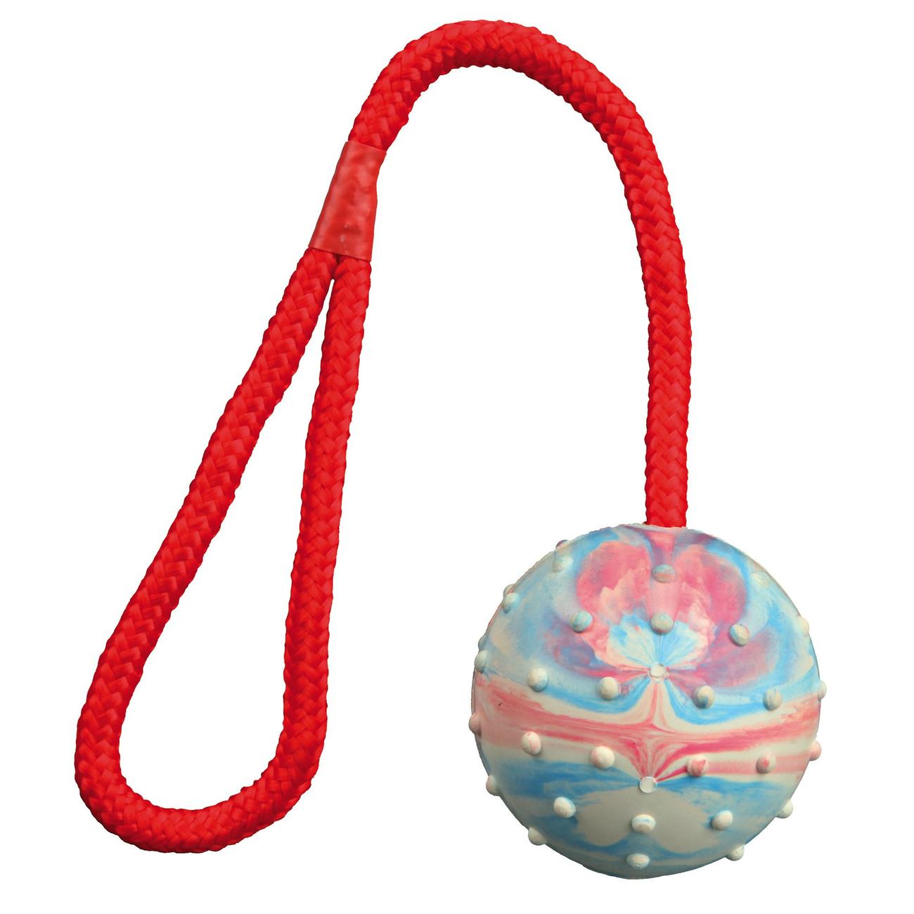 Trixie Spielball für Hunde am Seil mit Noppen 3305, Bild 6