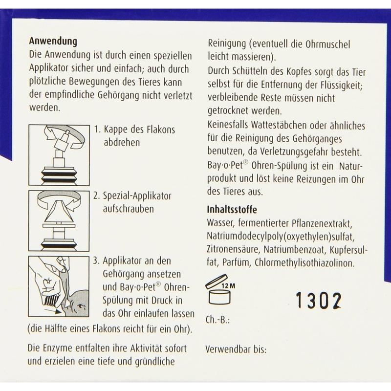 Bayer Bay-o-Pet Ohrenspülung Hund und Katze, Bild 5