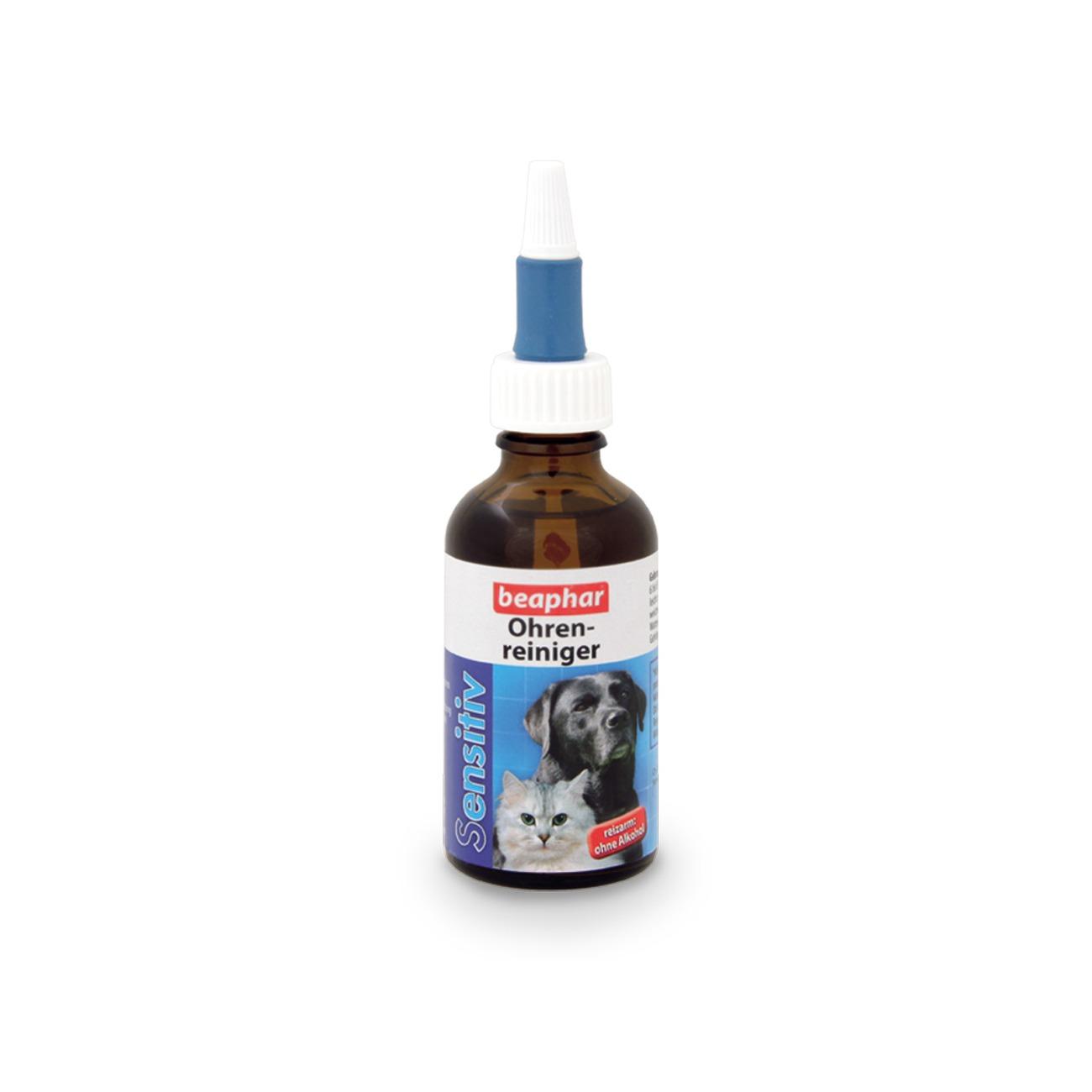 beaphar Ohrenreiniger Pipettenglas für Hunde und Katzen, 50 ml