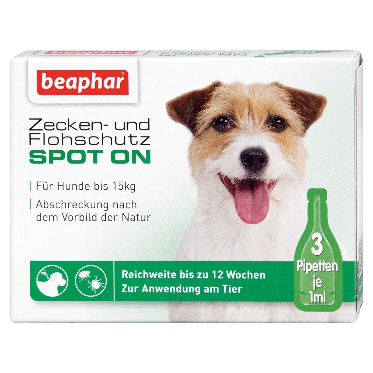 beaphar Zeckenschutz und Flohschutz SPOT-ON für Hunde
