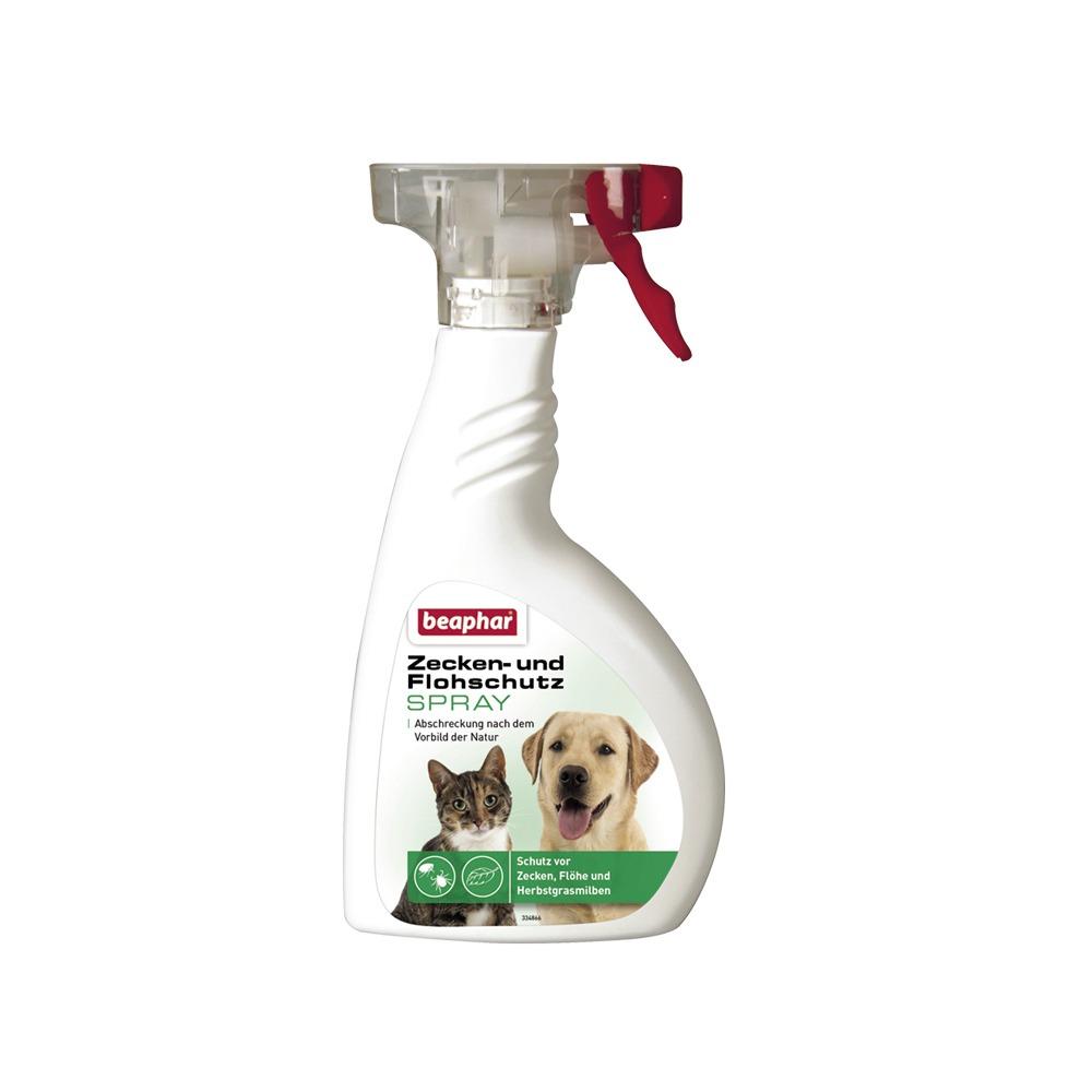 beaphar Zeckenspray und Flohschutz Spray für Hunde und Katzen, 400 ml