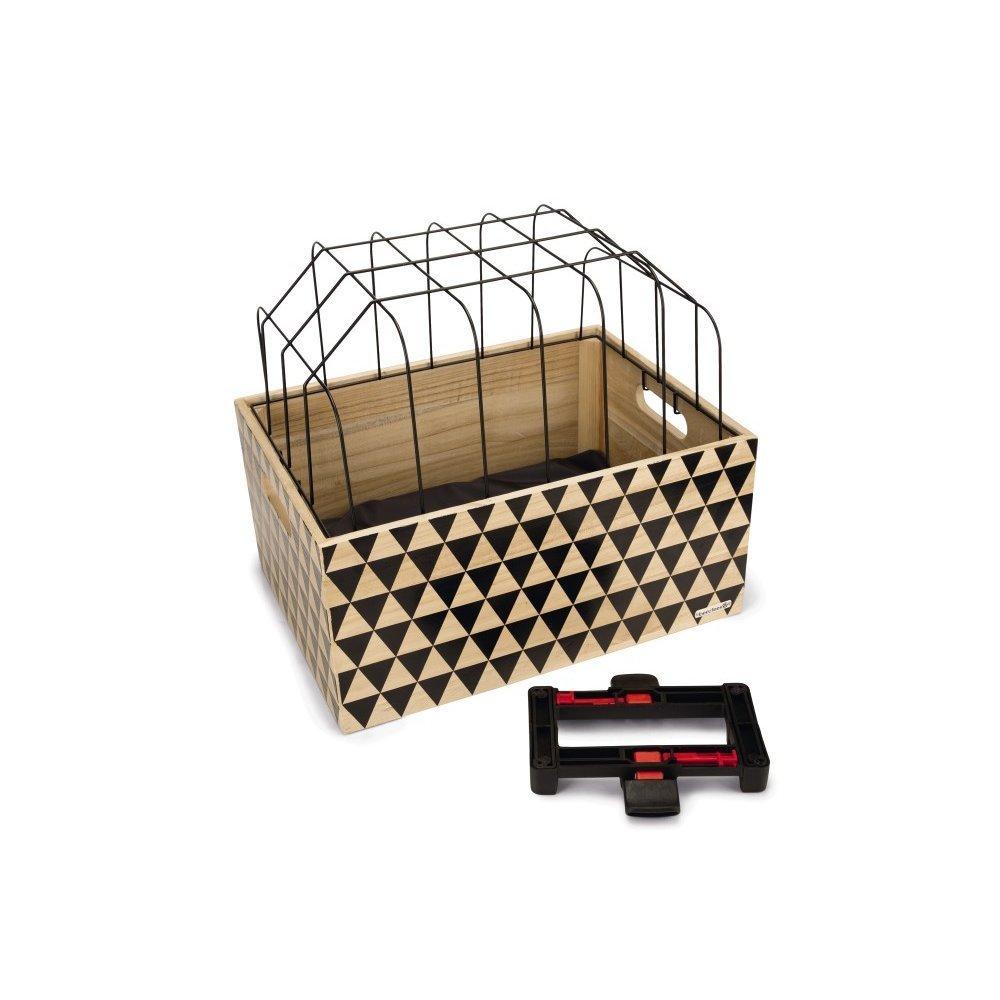 Beeztees Fahrradkorb Holzkiste mit Gitter, Bild 4
