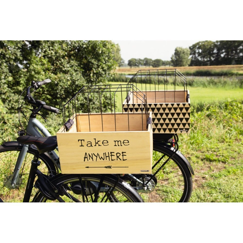 Beeztees Fahrradkorb Holzkiste mit Gitter, Bild 3