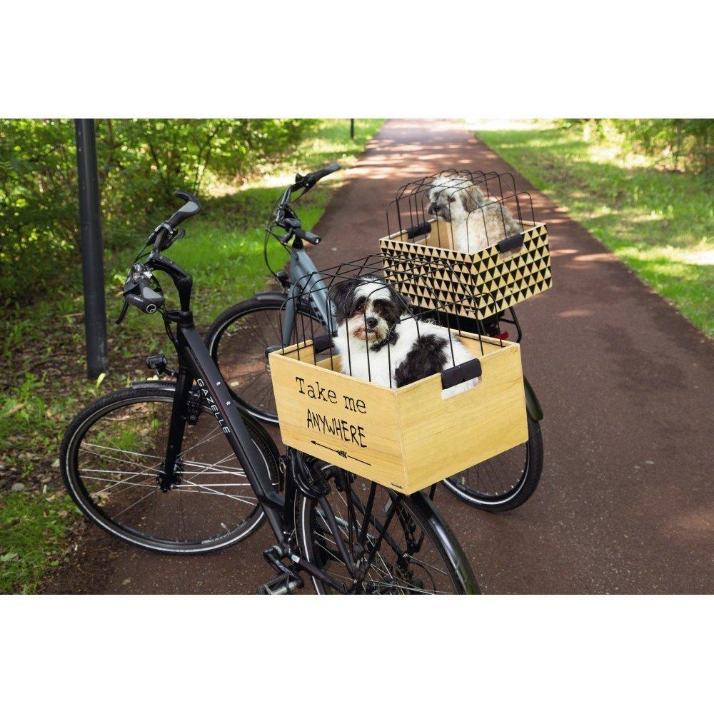 Beeztees Fahrradkorb Holzkiste mit Gitter, Bild 5