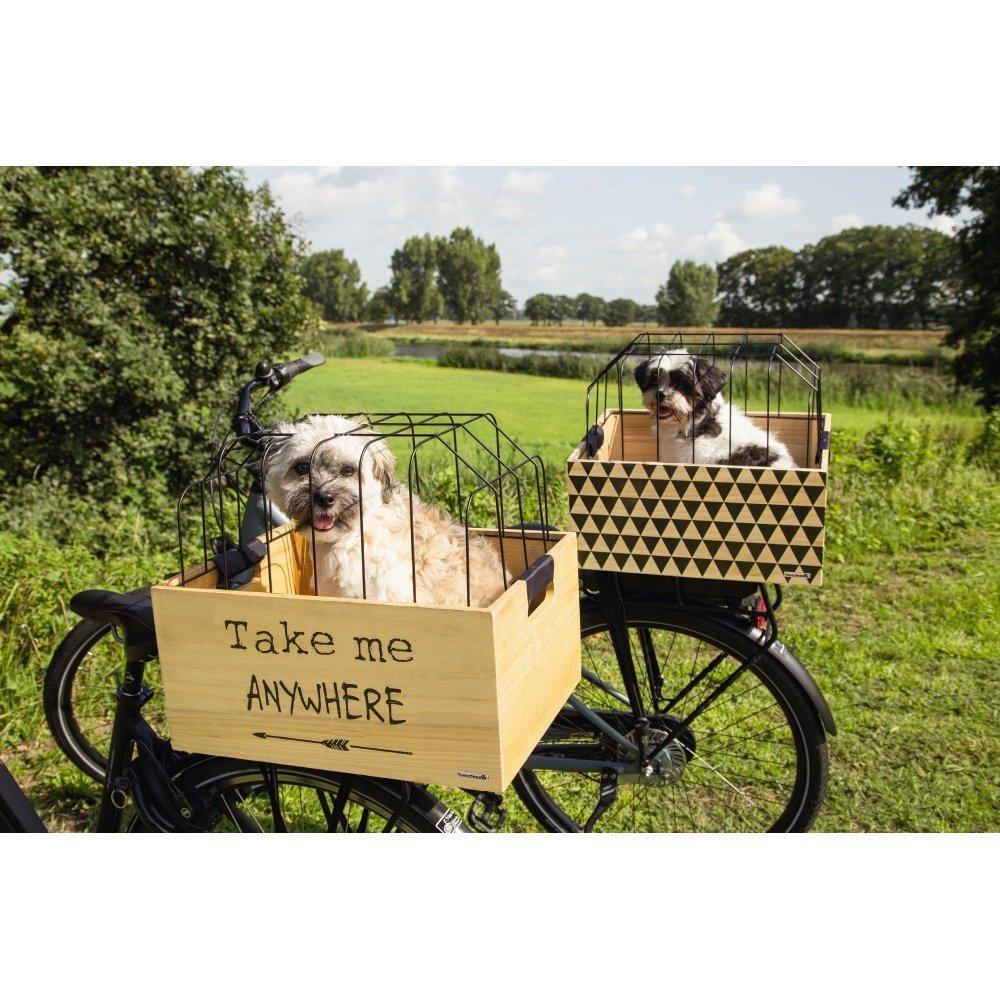 Beeztees Fahrradkorb Holzkiste mit Gitter, Bild 2