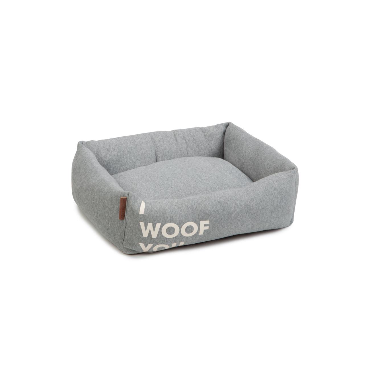 Beeztees Hundebett Woof You, 55 x 50 x 20 cm, grau