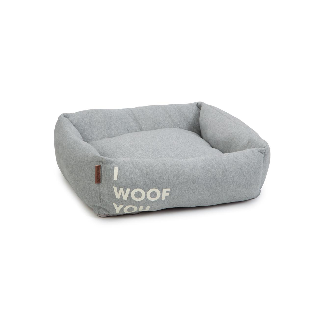 Beeztees Hundebett Woof You, 65 x 60 x 20 cm, grau