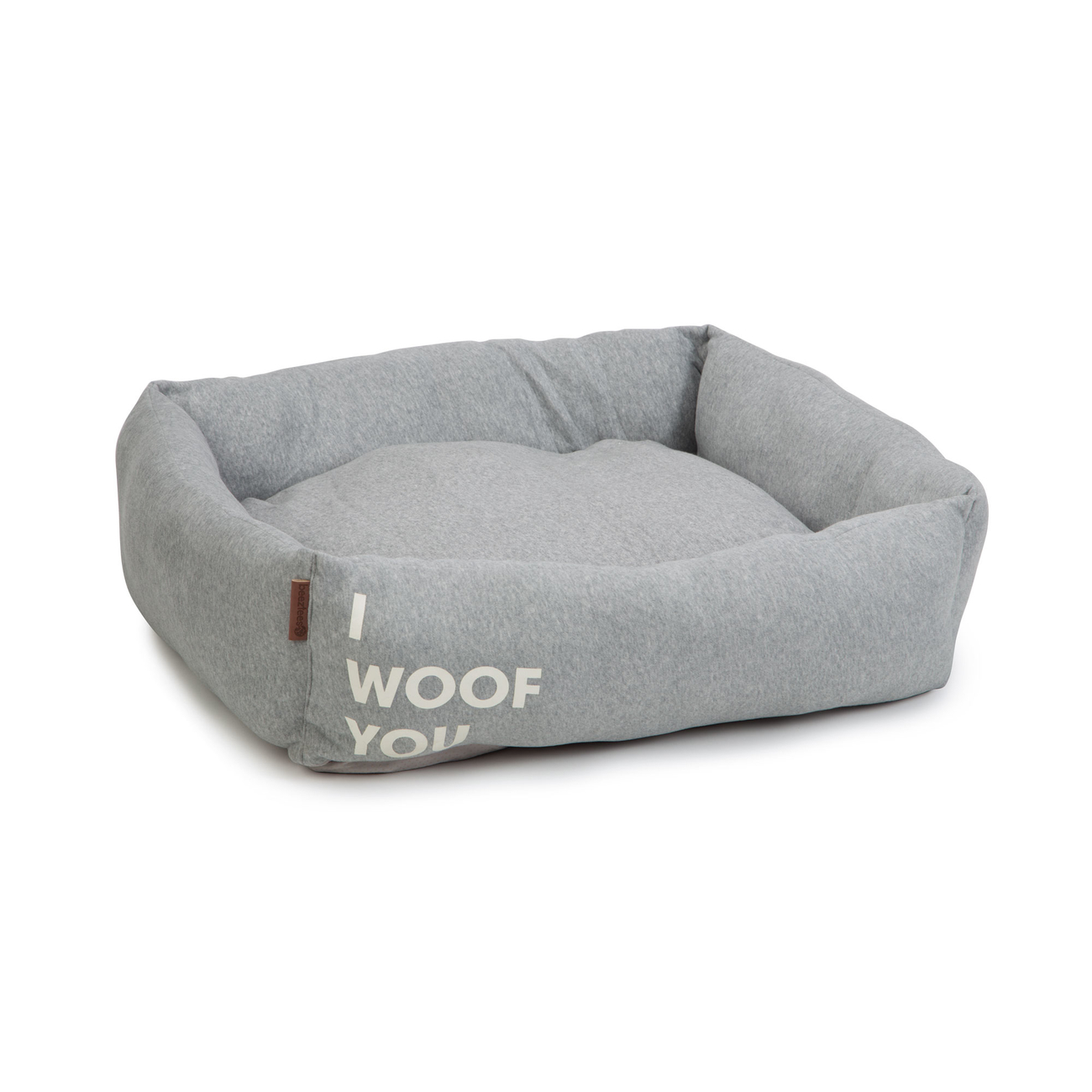 Beeztees Hundebett Woof You, 80 x 70 x 22 cm, grau