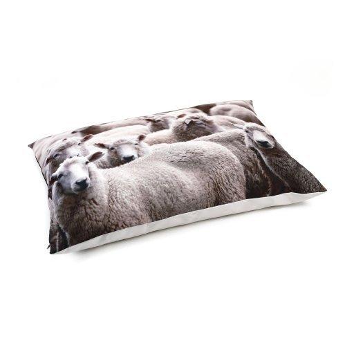 Beeztees Hundekissen Loungekissen Schafe, beige - 100 x 70 cm