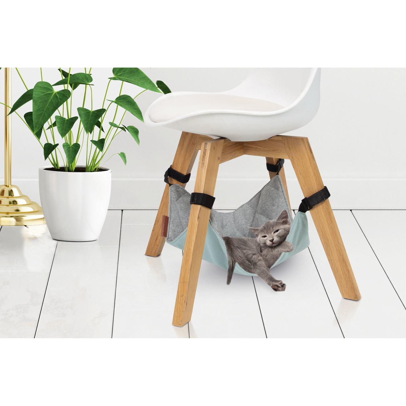 Beeztees Katzen Hängematte Loungy, 40 x 40 x 1 cm, grau