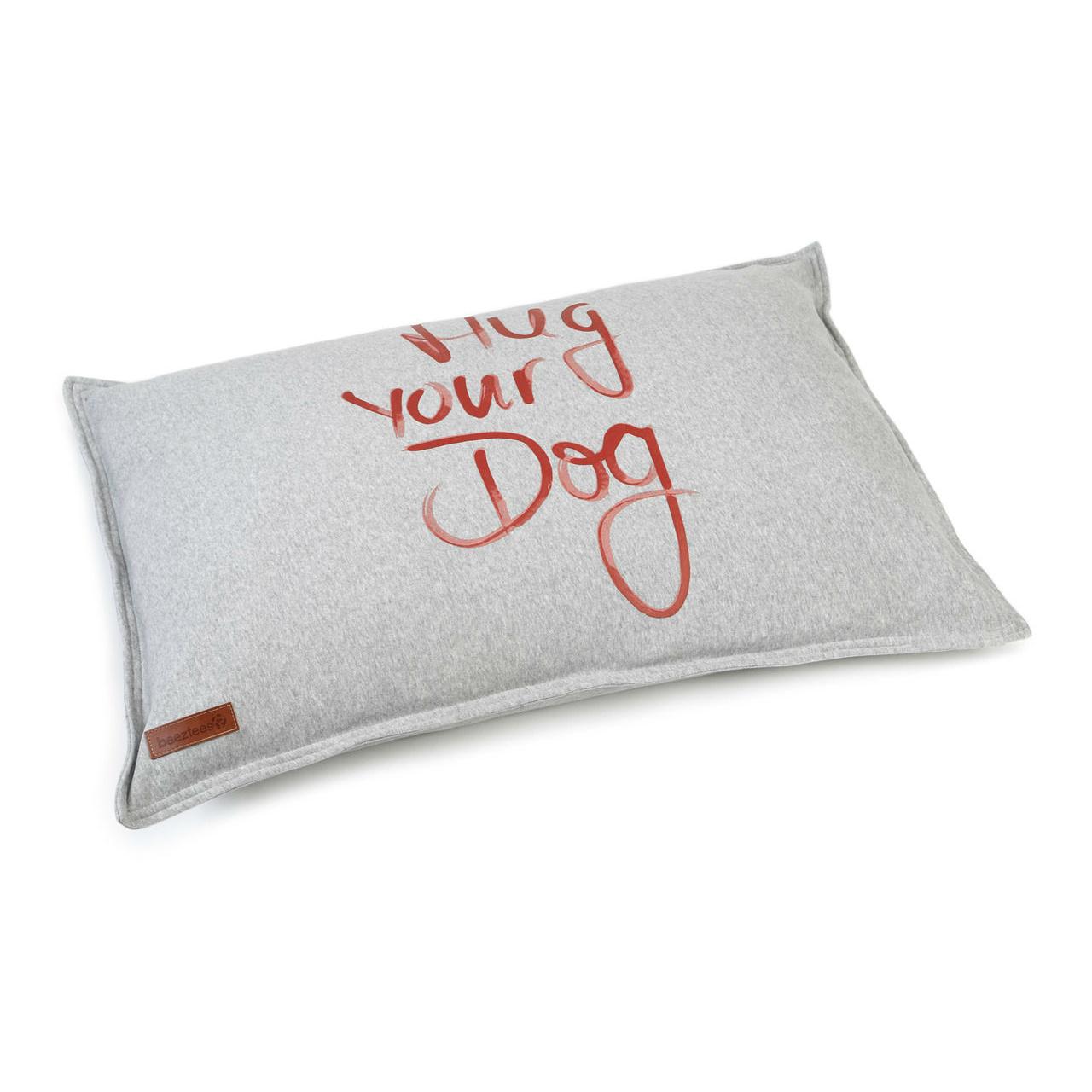 Beeztees Loungekissen Hundekissen Hug your Dog, 100 x 70 cm, grau