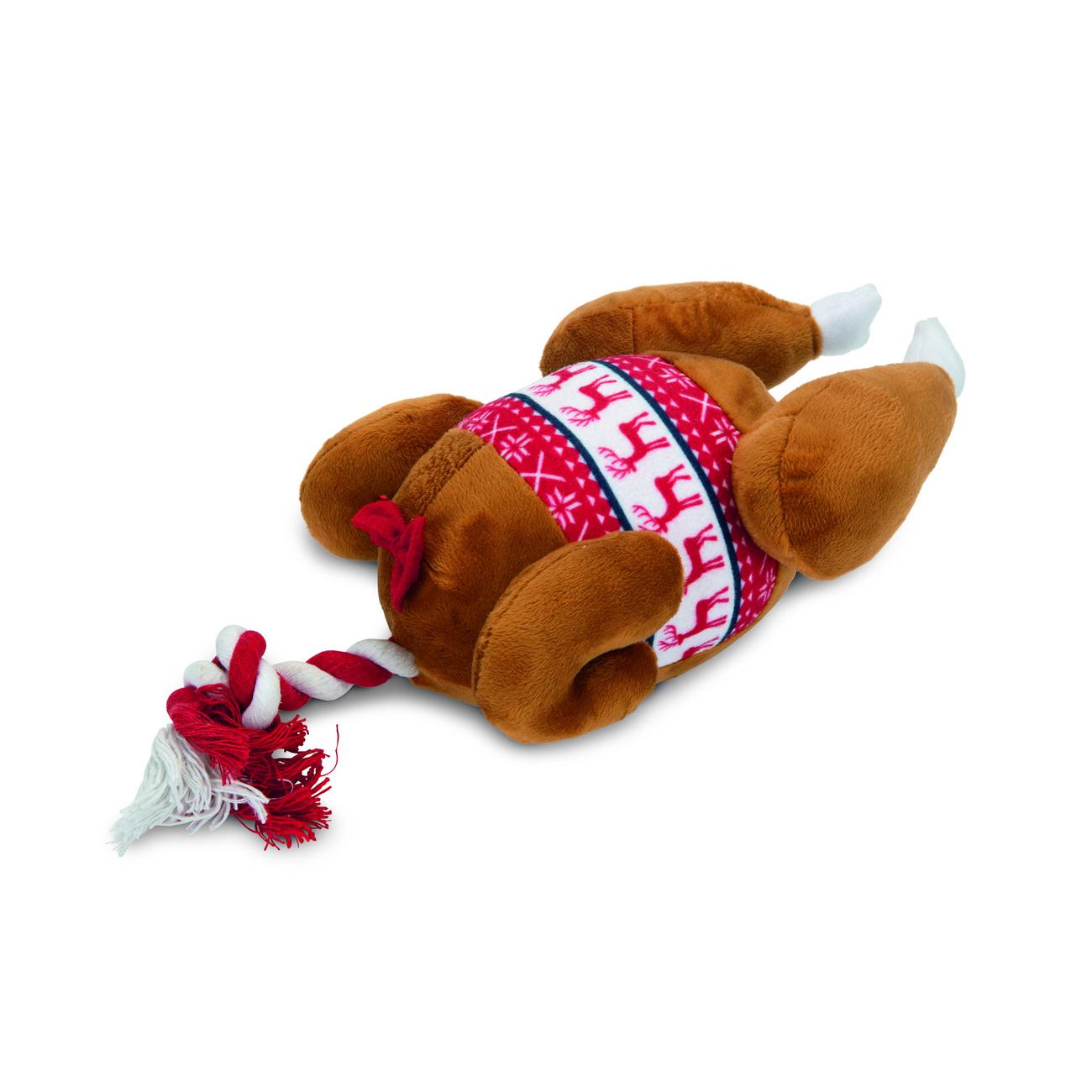 Beeztees Plüschspielzeug für Hunde Weihnachten Truthahn