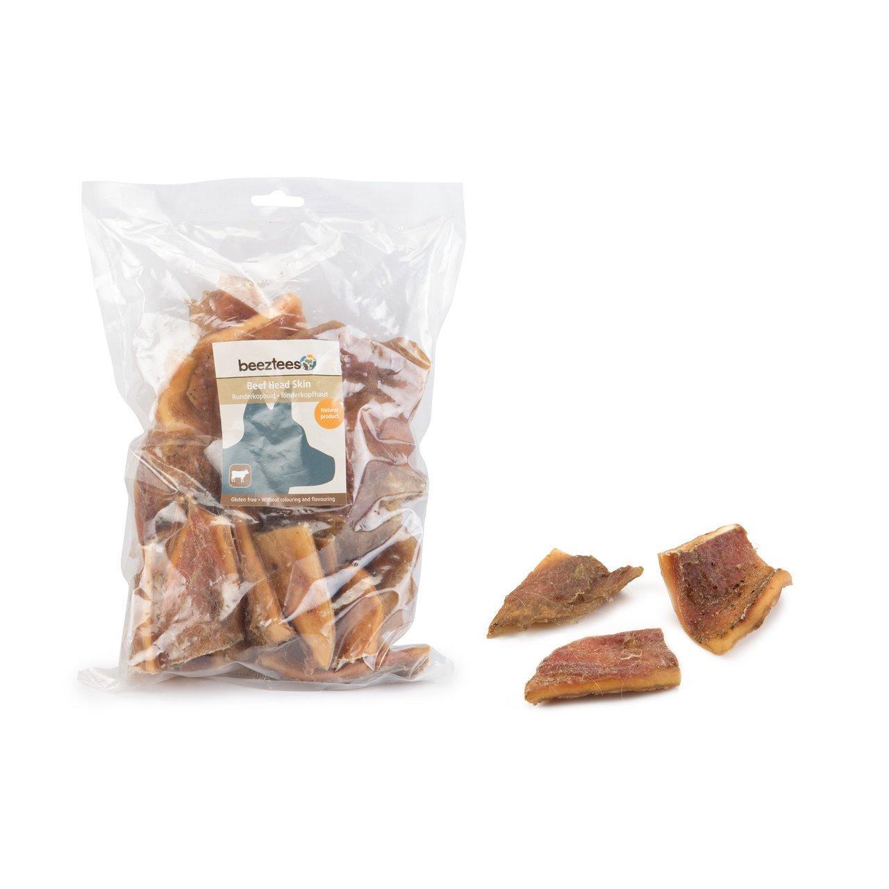 Beeztees Rinderkopfhautstücke für Hunde, 500 g
