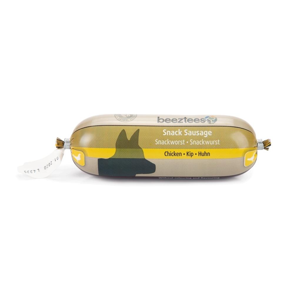 Beeztees Snack Kauwurst Fleischwurst für Hunde, Huhn 250g