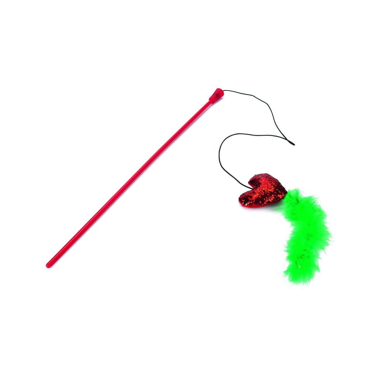 Karlie Weihnachtsspielzeug Katzenangel, L43cm, rot, Herz
