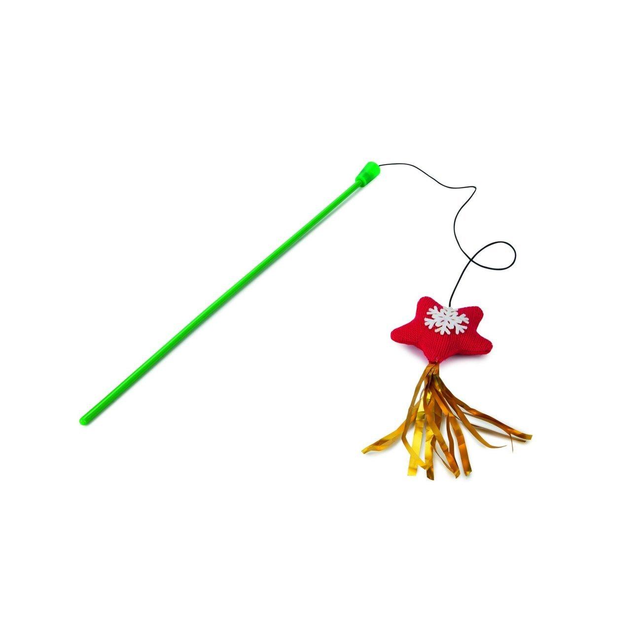 Karlie Weihnachtsspielzeug Katzenangel, L43cm, grün, Stern
