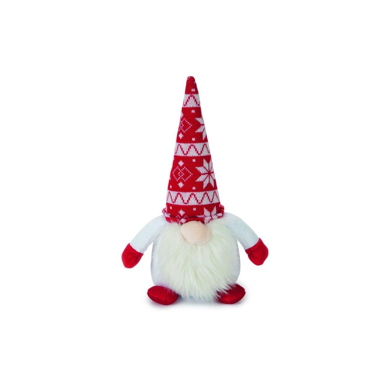 Karlie Weihnachtsspielzeug Plüsch Santa für Hunde, 34 x 12 x 10cm, weiss