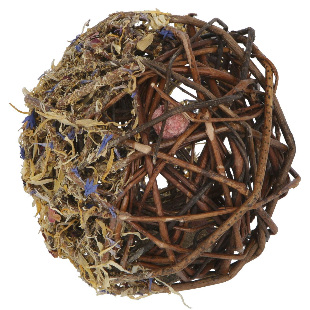 Kerbl Befüllter Weidenball für Kleintiere