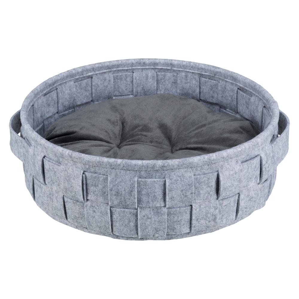 Trixie Bettchen Lennie für Hunde und Katzen, ø 45 cm, grau