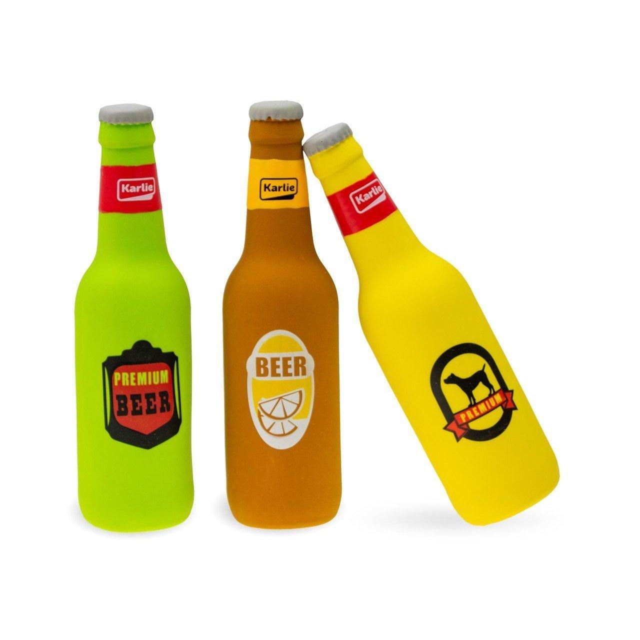Karlie Bierflasche mit Squeaker, Höhe: 20 cm, Länge/Breite: 5 cm