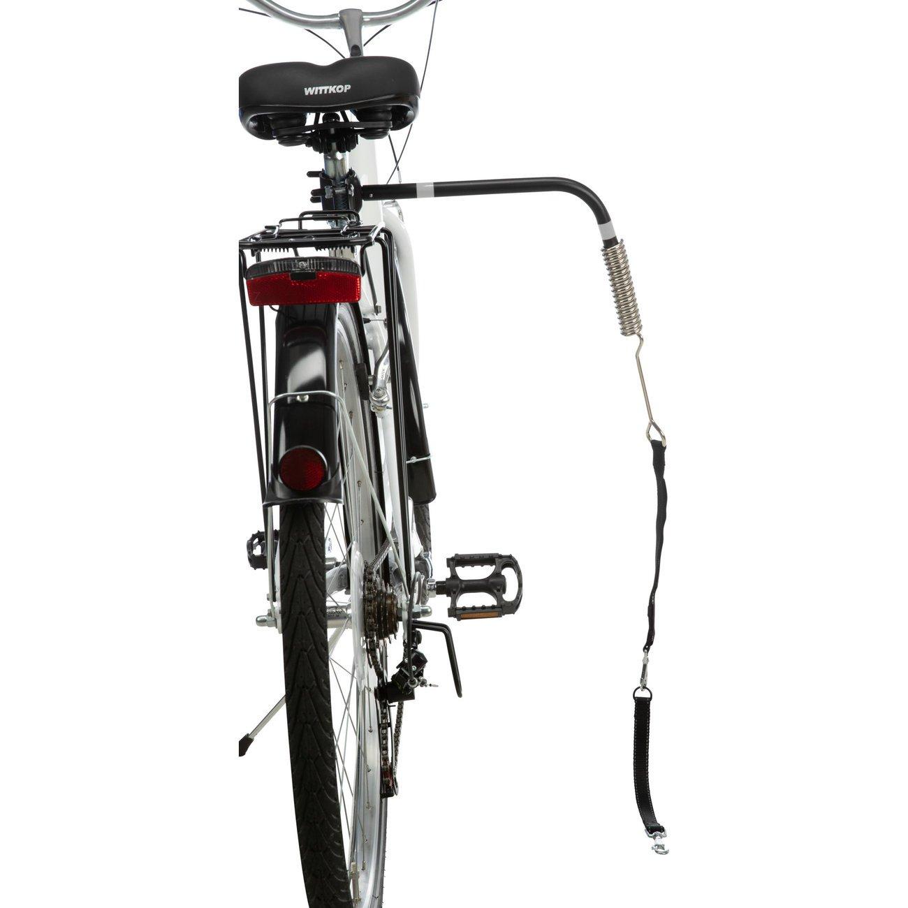 Trixie Biker-Set Hunde Abstandhalter für Fahrräder, Komplettset mit Halter und Spiralfeder