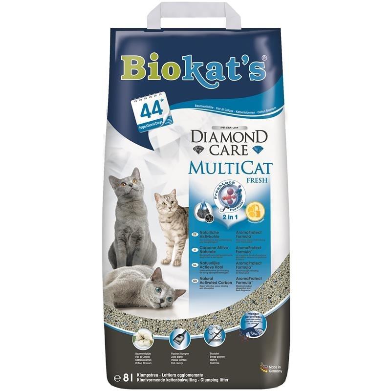 Gimborn Biokats Diamond Care MultiCat Fresh Katzenstreu, 8 Liter