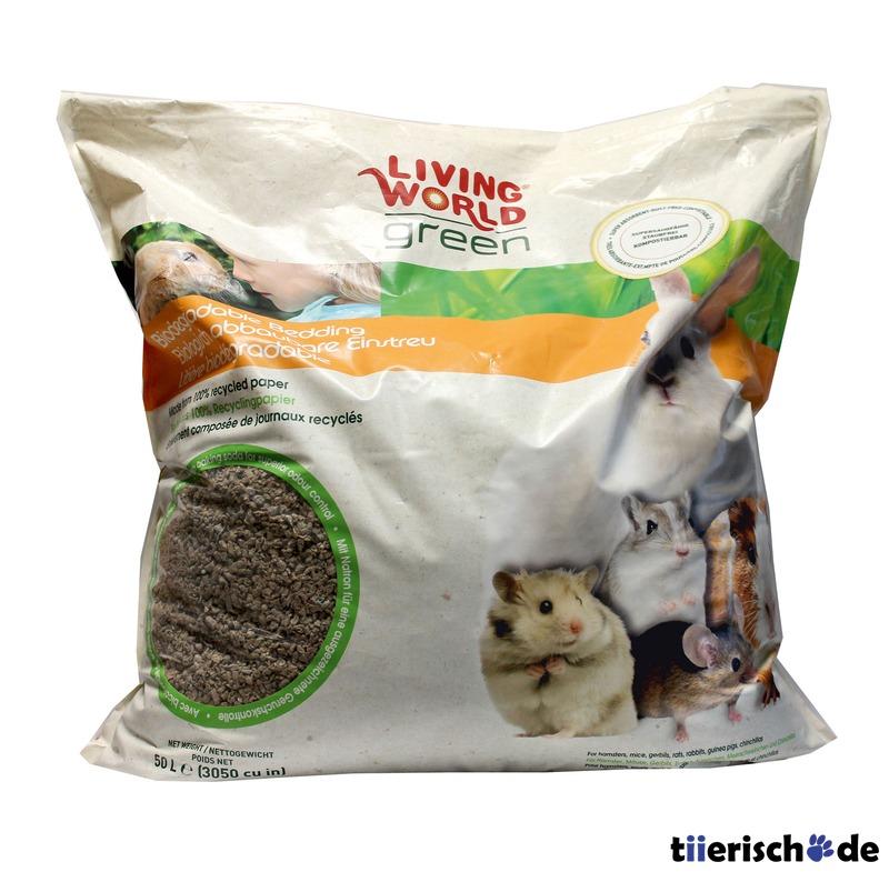Living World Green Biologisch abbaubare Einstreu für Kleintiere