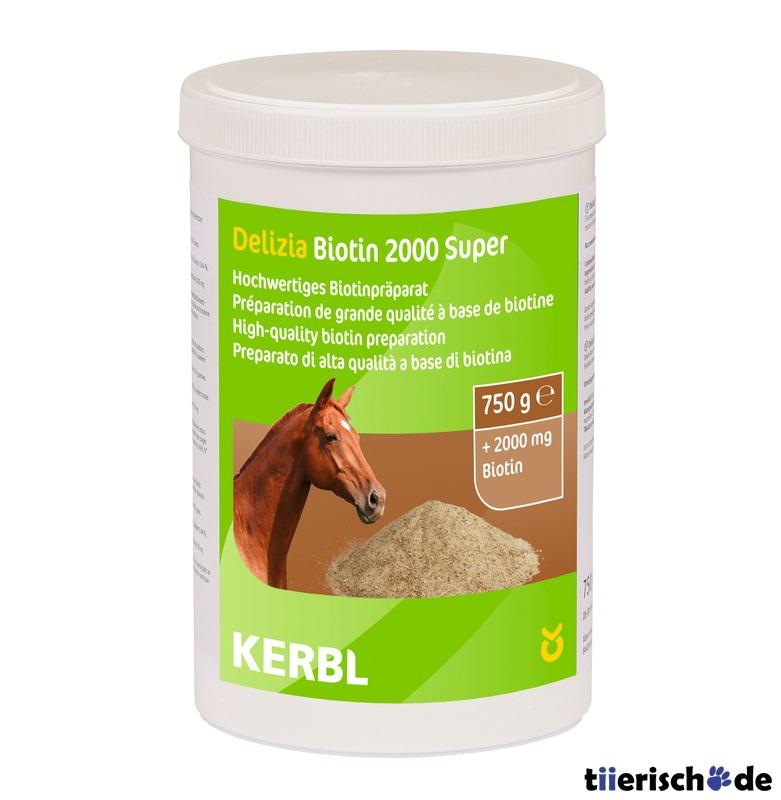 Kerbl Biotin 2000 Pferde Ergänzungsfutter, 750g