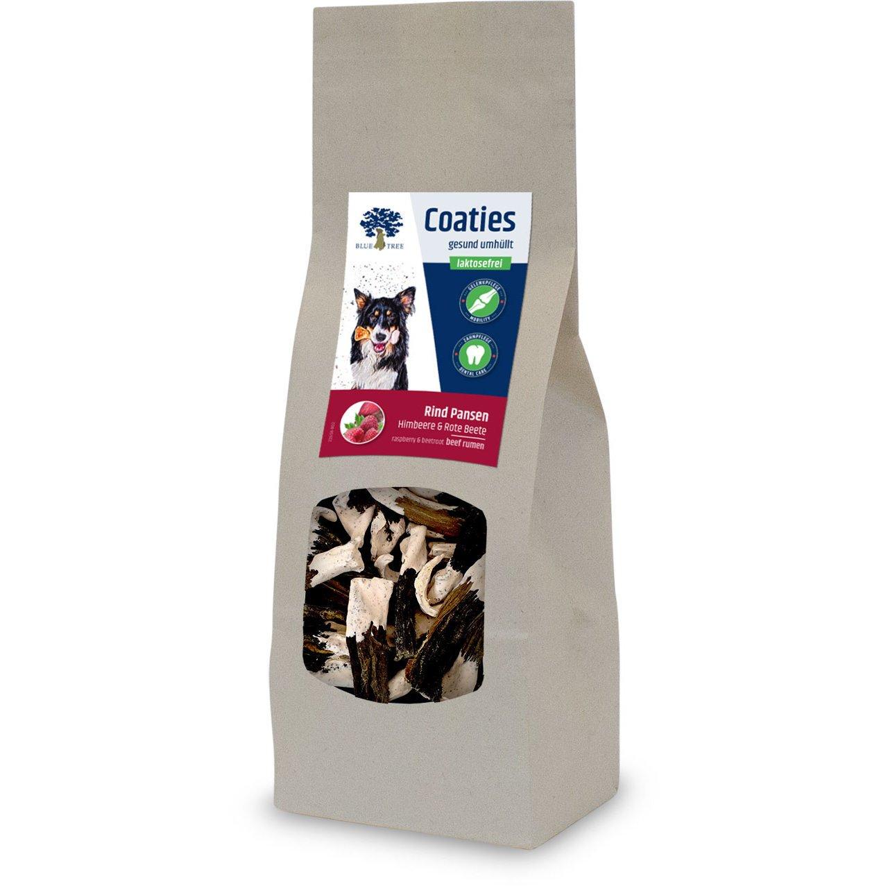 Blue Tree Coaties Hundekausnack mit laktosefreier Milch, Rind Pansen 100g