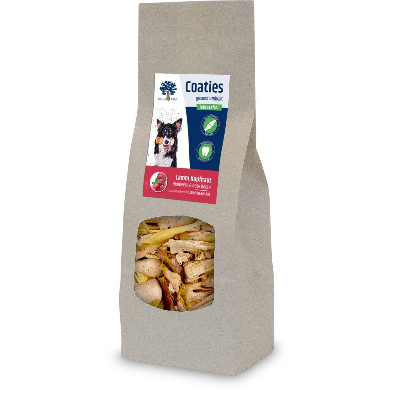 Blue Tree Coaties Hundekausnack mit laktosefreier Milch, Lamm Kopfhaut 70g