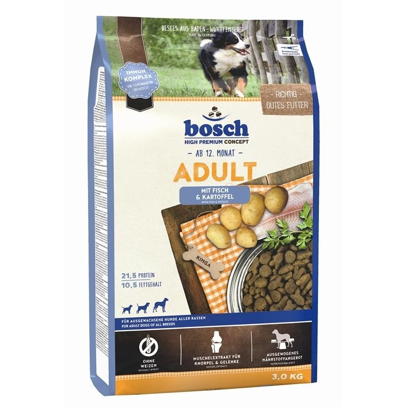Bosch Adult Fisch & Kartoffel Hundefutter, 3 kg