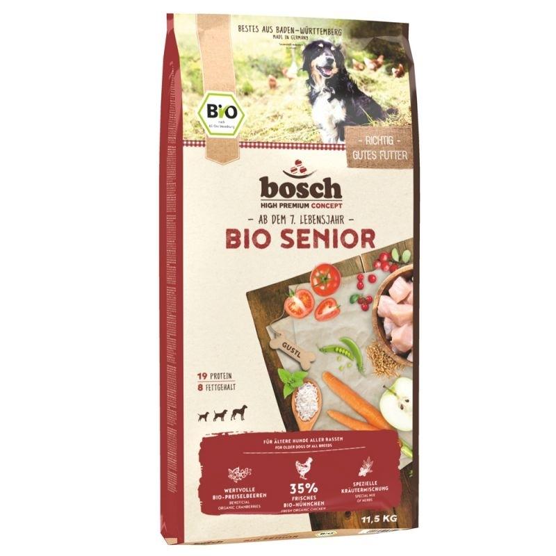 Bosch Bio Senior Hühnchen & Preiselbeere Hundefutter