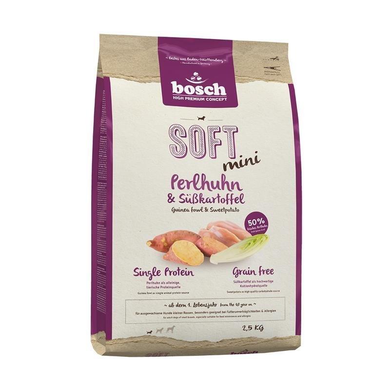 Bosch Soft Mini Hundefutter, Perlhuhn & Kartoffel 2,5 kg