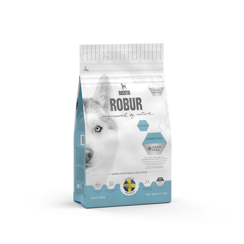 Bozita Robur Sensitive Rentier getreidefreies Hundefutter, 3kg