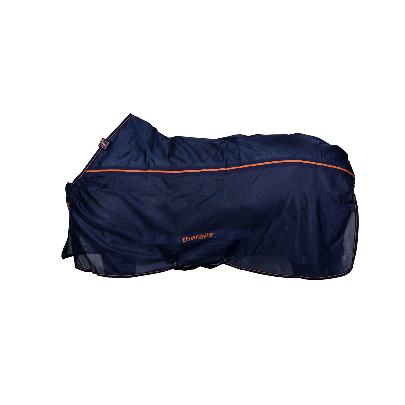 Bucas Recuptex Pferde Therapiedecke Light, Gr. 120 - Navy/ Orange